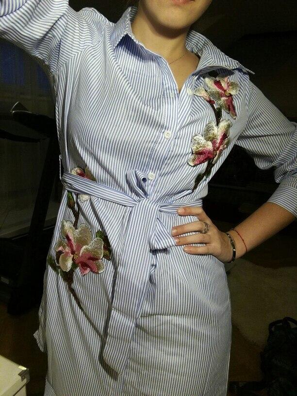 Платье-рубашка с вышивкой за 925 руб. с Алиэкспресс