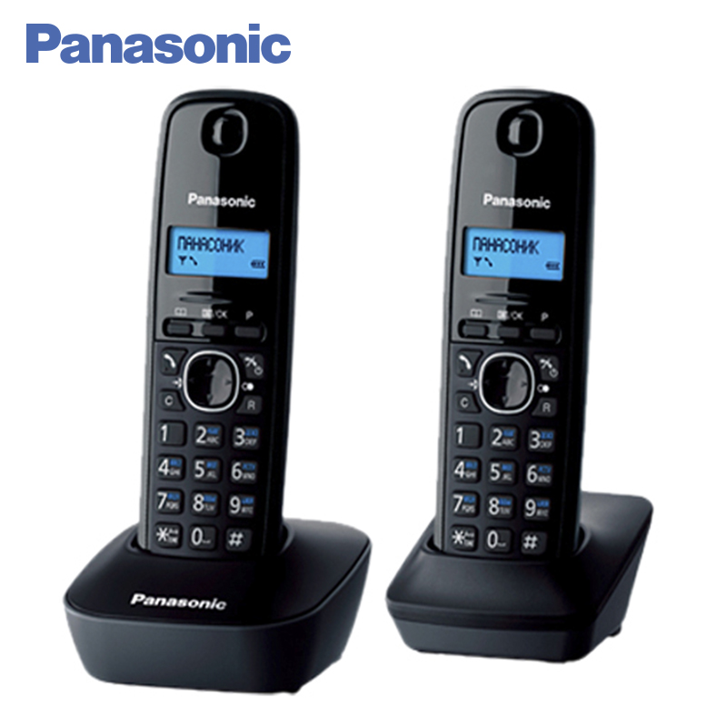 Panasonic KX-TG1612RUH DECT phone, 2 Handset, digital cordless telephone, wireless phone System Home Telephone. panasonic kx tg2512rus dect phone additional handset included eco mode time date display communication between handsets