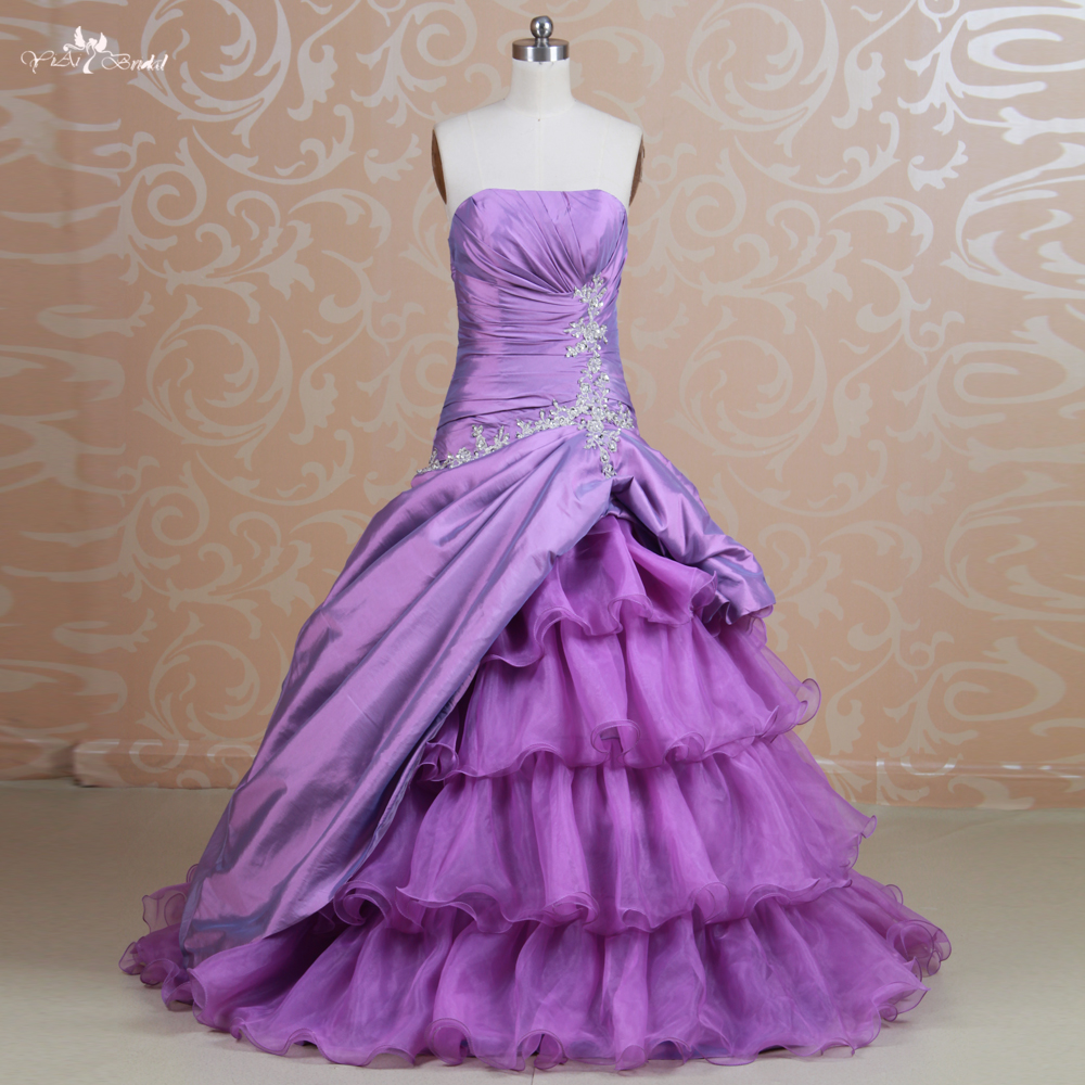 RSE85 Drapped Ruffles Organza Layered Prom Dress Patterns-in Prom ...
