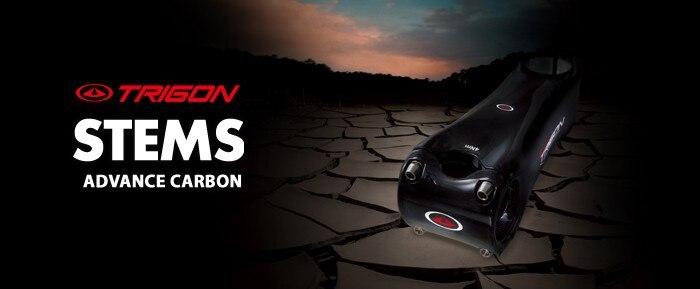 Trigon HS106A ультралегкие Углеродные детали для велосипеда руля велосипеда 75 мм/80 мм/90 мм/100 мм