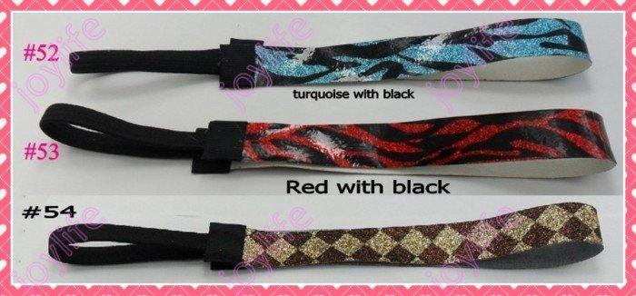 """Смешанных цветов новые 190 шт 3/"""" модные блестящие повязки для девочек повязка для волос для софтбола"""