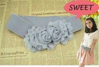 эластичный пояс женщины симпатичные пояс пояс многоцветной мода женская цветок двухместный роуз поясная пряжка 5 цвета бесплатная доставка 29