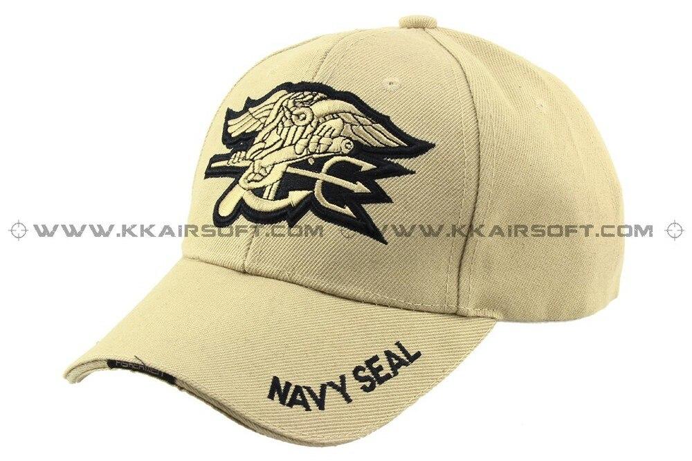 Бейсболка и шляпа темно-синяя печать логотип Тан [CP-13-TAN] Спортивная Кепка