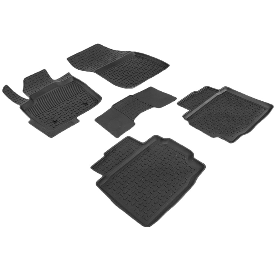 лучшая цена For Ford Mondeo V 2015-2018 rubber floor mats into saloon 5 pcs/set Seintex 86446