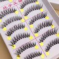 Накладные ресницы из стебля естественным образом 1 коробка 10 пар телесный макияж натуральные накладные ресницы натуральный инструмент для ...