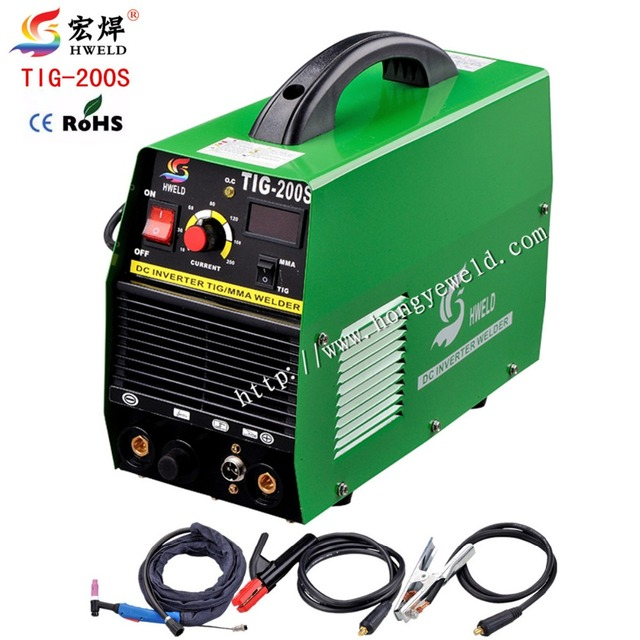 Inverter Tig Welding Tig Welder Multifunction Mini Inverter DC TIG/MMA Welding Machine/Equipment/Welders Micro Welder TIG-200S