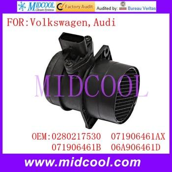 New Mass Air Flow Sensor menggunakan OE No 0280217530, 071906461AX, 071906461B, 06A906461D untuk Volkswagen Audi