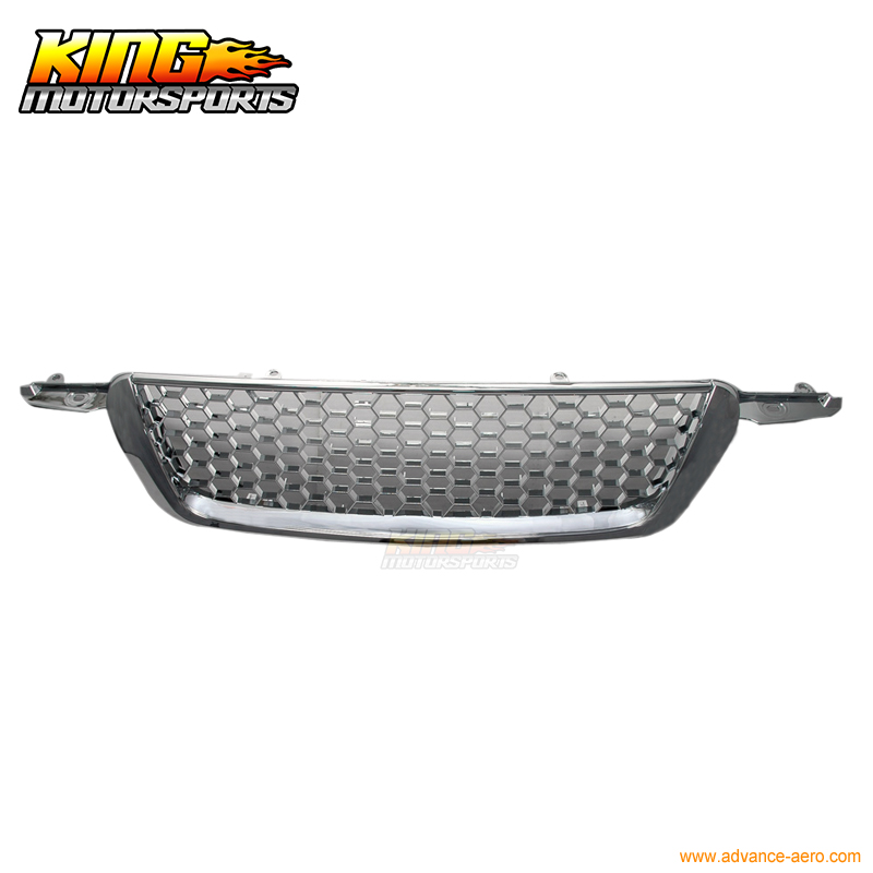 For 02-04 Honda CRV CR-V Mesh Chrome Front Grill Grille Brand New 2002 2003 2004 USA Domestic Free Shipping Hot Selling for 07 09 toyota tundra chrome mesh grill grille brand new 2007 2008 2009 usa domestic free shipping hot selling