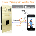 Беспроводной IP Домофон Главная Домофоны Камеры Дистанционного Управления Дверной Звонок Беспроводной Wi-Fi IP Отпечатков Пальцев Video Door Phone