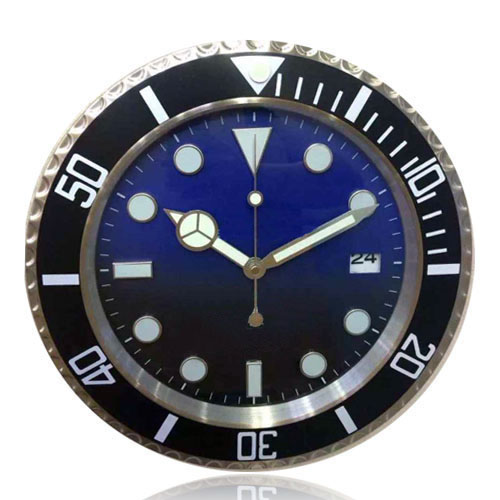 This is What You Want Graduated Color Blue to Black Fashion Modern Design Wall Clock Metal