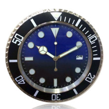 This is What You Want! Graduated Color Blue to Black Fashion Modern Design Wall Clock Metal Watch Clocks with logo  R112