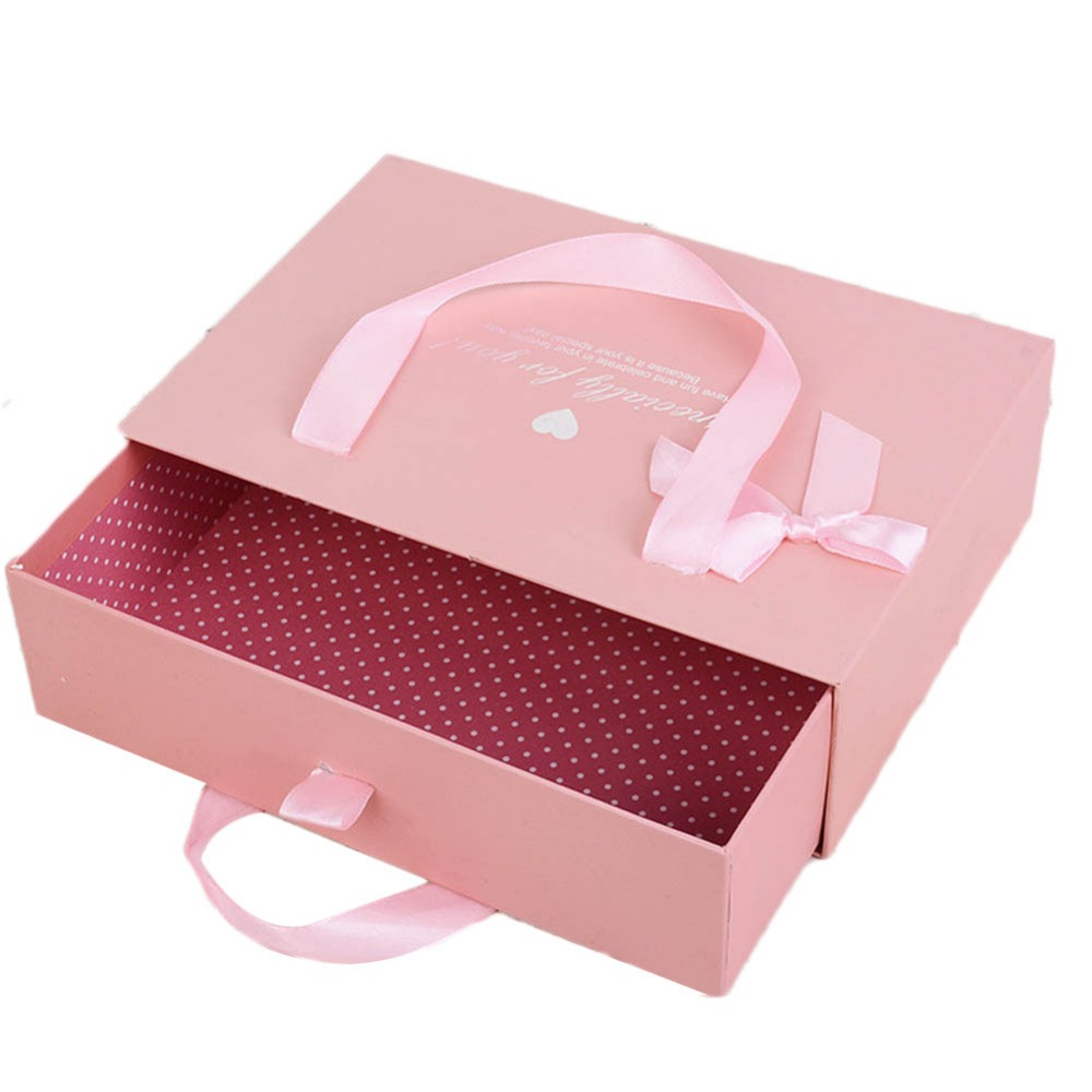 24*17*7cm Pink Drawer Style Wedding Candy Packaging Gift Candy Bag Supplies Paper Organize Boxes