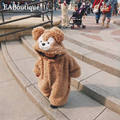 New Hot sale Warm baby Snow wear spanish bear costume baby bear rompers high quality retail 1 pcs