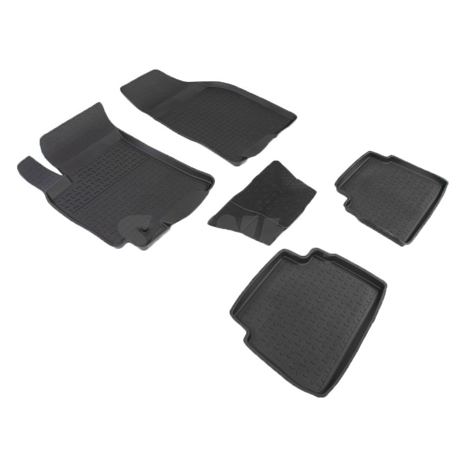 For Daewoo Ravon Gentra 2013-2019 rubber floor mats into saloon 5 pcs/set Seintex 00978 for ravon r4 2016 2019 rubber floor mats into saloon 5 pcs set seintex 82910