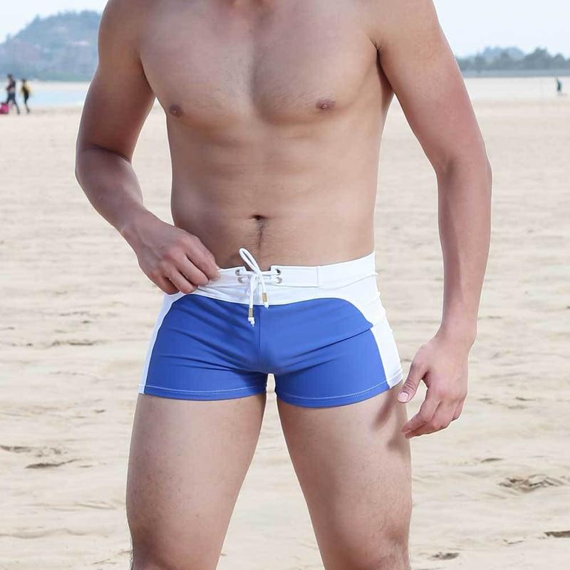 2017 új férfi fürdőruha szexi alacsony személyiségű férfi strand rövid fürdőruhák rövidnadrág férfi ökölvívó törzsek fürdőcsúszók plusz méret