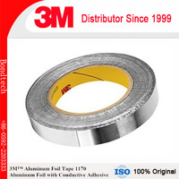 3M 1170 Aluminum Foil with Conductive Adhesive, 1 in X 16.5, Pack of 23