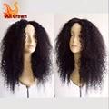 Nudos blanqueados rizada rizada peluca malasia pelo rizado encaje completo pelucas con BabyHair Glueless del frente del cordón pelucas de cabello humano negro mujer