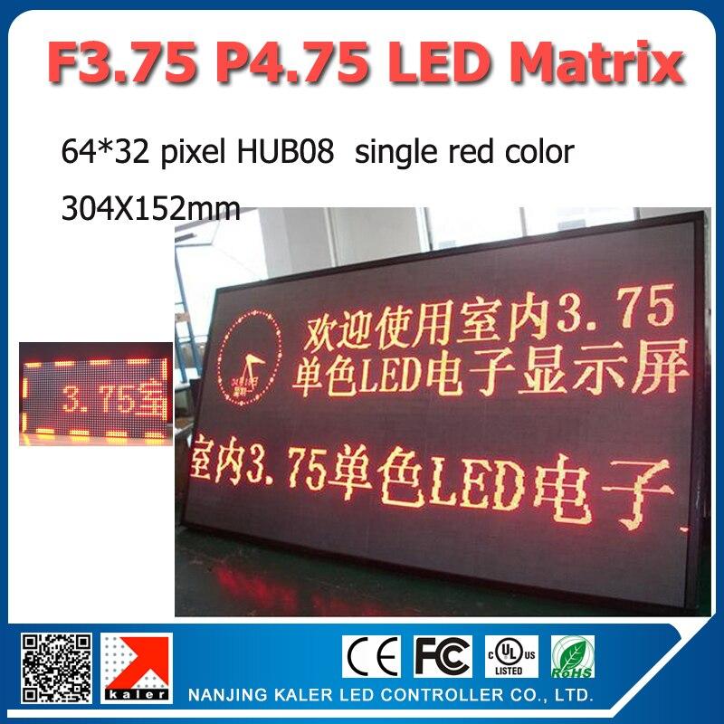 F3.75 Unit Board 64 * 32pixel Dot Matrix LED Display Screen F3.75 P4.75 LED Module 304 * 152mm