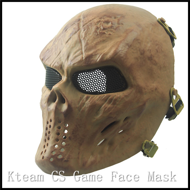 Halloween Party Cosplay CS Airsoft Paintball Tactical Full Face Protection Skull Mask CS War Game Mask Movie Full Face CS Mask