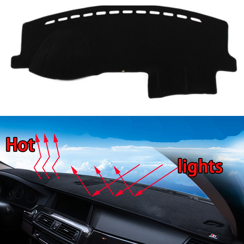 Car Dashboard Avoid Light Pad Instrument Platform Desk Cover Mats Carpets Car Styling For Skoda Fabia