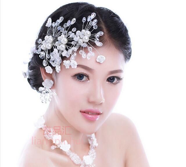 3pcslot bridal headwear flower pearl fashion wedding hair pins accessories headpieces 2016 cheap price