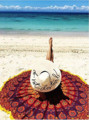 1Pc Free Shipping New Brand Toallas Beach Towel Luxury Large Size Round Hippie Tassel Tapestry Beach Throw Mandala Towel