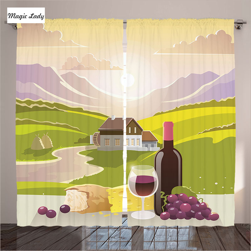 curtains decorative accessory living room bedroom wine cheese bread