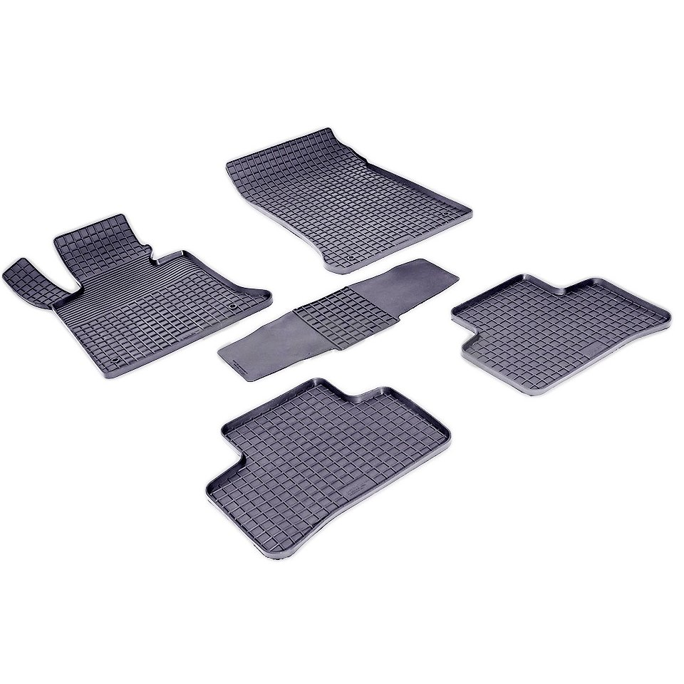 Rubber grid floor mats for Mercedes-Benz GLK-class X204 2008 2010 2012 2015 2016 2017 Seintex 83793