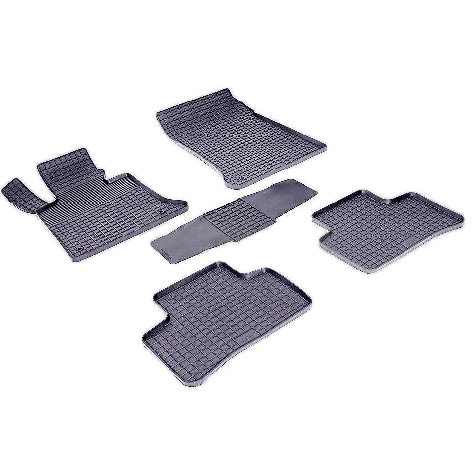 Rubber grid floor mats for Mercedes-Benz GLK-class X204 2008 2010 2012 2015 2016 2017 Seintex 83793 цены