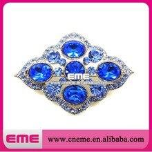 Elegante Blaue Kristall Strass Brosche Für Bekleidung/Schuhe/Hochzeit/Party
