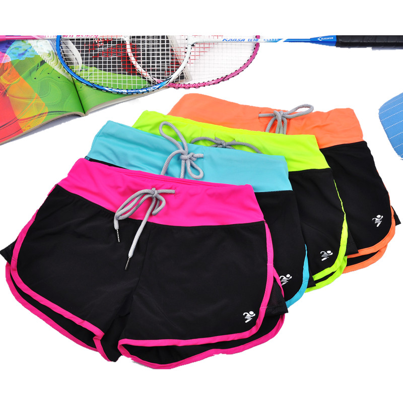 Women Sports Fitness Yoga Shorts For Workout Run Slimming