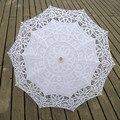Handmade bordados de algodão Lace Parasol Sun Umbrella nupcial do casamento fotografia Umbrella decoração do partido suprimentos rendas guarda-chuva