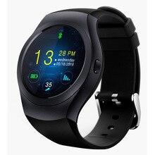 Runde Touchscreen Smart Uhr MTK2502C 300 mAh Fitness Tracker Bluetooth Smart Uhren ios Android Smartwatch Unterstützung SIM SD