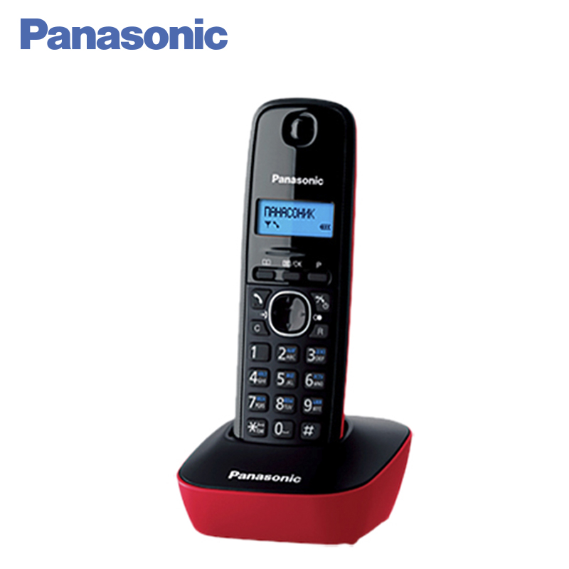 Panasonic KX-TG1611RUR DECT phone, digital cordless telephone, wireless phone System Home Telephone. free shipping brand new 7 inch color home video intercom door phone system 3 white monitors 1 doorbell camera in stock wholesale