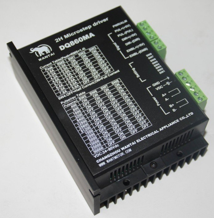 UT8n2qwXnRbXXagOFbX9 - Wantai CNC Stepper Motor Driver 80VDC/7.8A/256Microstep,DSP code,  for Nema 34 motors, Ship Worldwide, CE, RoHS,DQ860MA