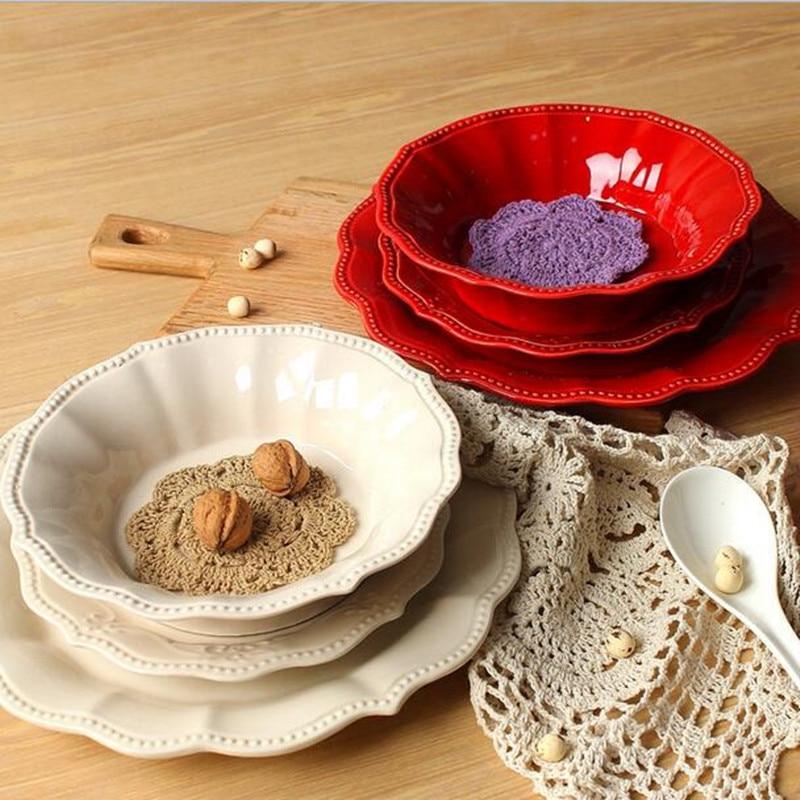 Ceramic Fruit Tray Ceramic Relief Western Style Ceramic