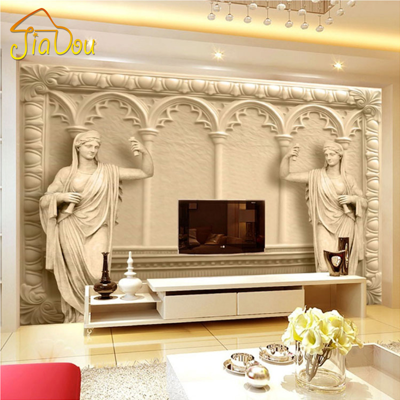 Custom Photo Wallpaper European Style 3D Stereo Relief Mural Simple Fashion Living Room TV Backdrop Murals Non-woven Wallpaper book knowledge power channel creative 3d large mural wallpaper 3d bedroom living room tv backdrop painting wallpaper