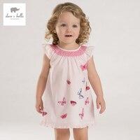 DB3340 Dave Bella Summer Baby Girl Butterfly Printed Appliques Dress Baby Cute Birthday Dress Kids Lolita