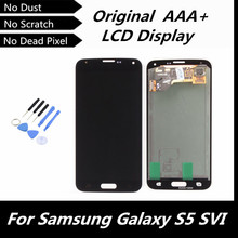 100% Tested High Quality Drak Blue LCD Display Replacement for Samsung Galaxy S5 i9600 G900R G900F G900H G900M G9001 Repairment