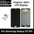 100% probados alta calidad Drak azul pantalla pantalla LCD de repuesto para Samsung Galaxy S5 i9600 G900R G900F G900H G900M G9001 reparación y mantenimiento