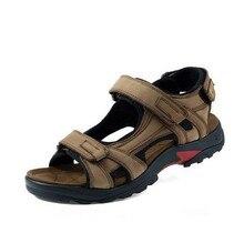 2016 new men's leather sandals sandals large size men outdoor leisure shoes hollow