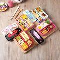 2016 venda quente japão estilo de três camada bento caixa de almoço portátil caixa de calor com sopa de cor aleatória