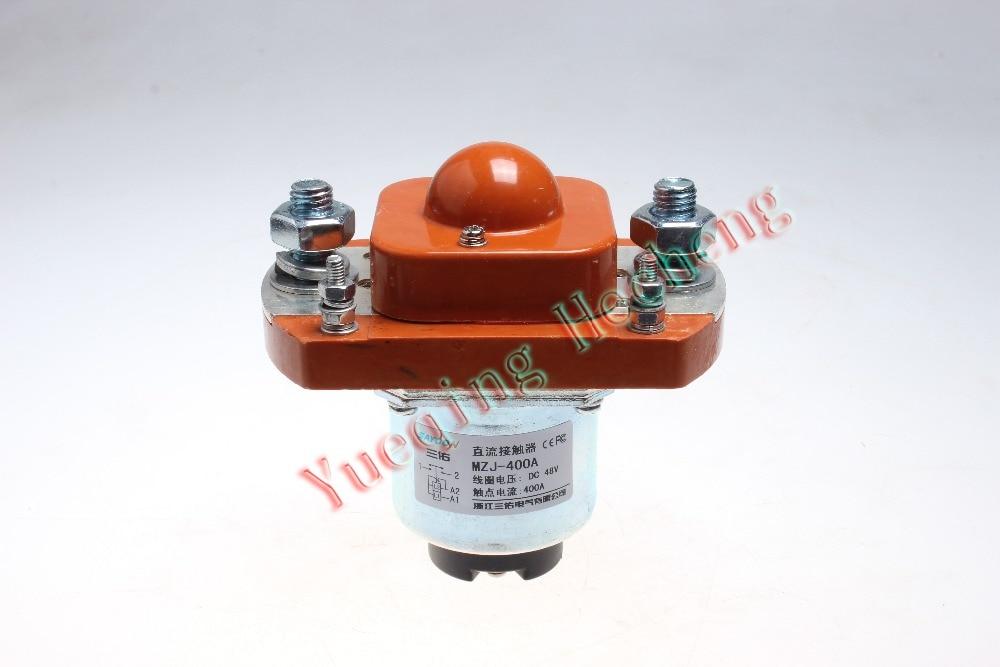 MZJ-400A DC Contactor Relays DC12V DC24V DC48V new lp2k series contactor lp2k06015 lp2k06015md lp2 k06015md 220v dc