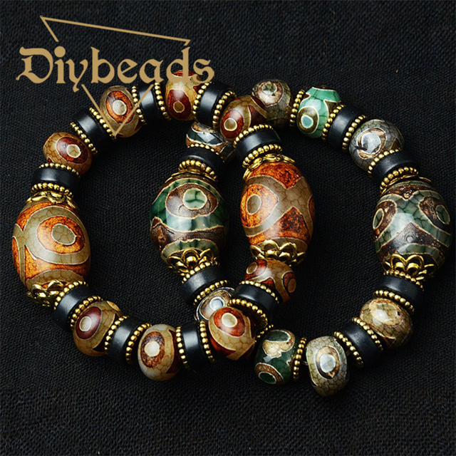 High Quality Charm Dzi Agate Beads Bracelet For Men Chalcedony Buddha Natural Stone Bracelets & Bangles Gifts