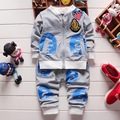 2016 Baby Boy /Girl 4Color Clothes Children Cartoon Clothing Set Hoody Coat+Pants, Toddler Tracksuits For  Boys Girls