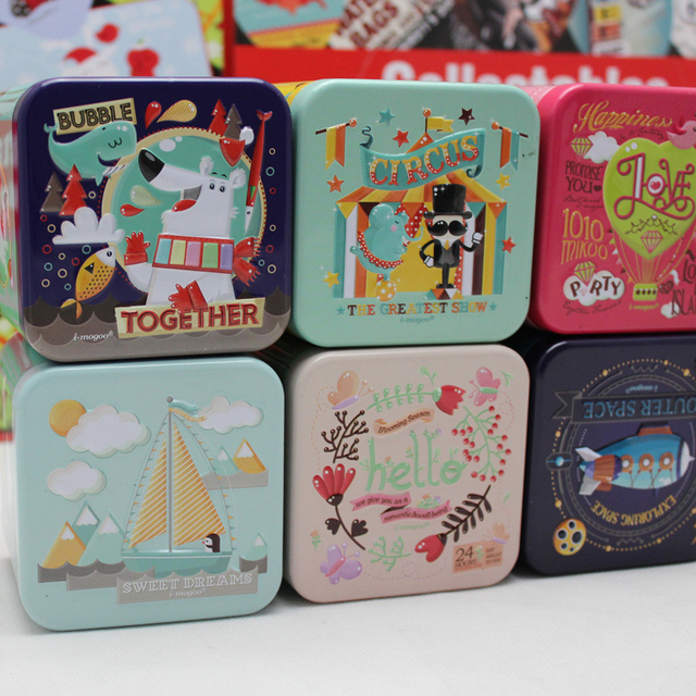 Novelty home decor accessories cute small square metal storage boxes organizer for coin earring buttonjewelry tin & Novelty home decor accessories cute small square metal storage boxes ...