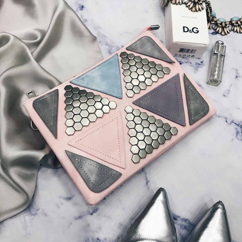 Клатч с геометрическим декором с Алиэкспресс