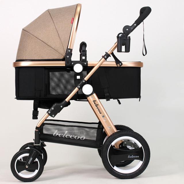 Envío libre de rusia Bebé cochecito paisaje de alta puede sentarse y acostarse en invierno y verano niños cesta cochecito de bebé