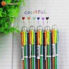 Многоцветная шариковая новинка творческий школьные красочные принадлежности канцелярские многофункциональный ручка