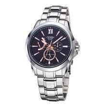 2016 recién llegado de cronógrafo 24 horas multifunción deporte de negocios relojes relojes de acero inoxidable hombres reloj hombre relojes Casual